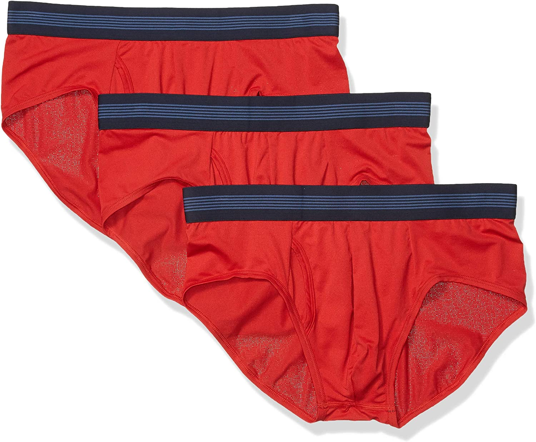 Amazon Brand - Goodthreads Men's 3-Pack Lightweight Performance Knit Brief