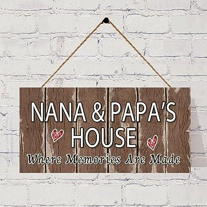 Sensational Amazon Com Bevis554Yule Nana Papas House Sign Brown Download Free Architecture Designs Philgrimeyleaguecom