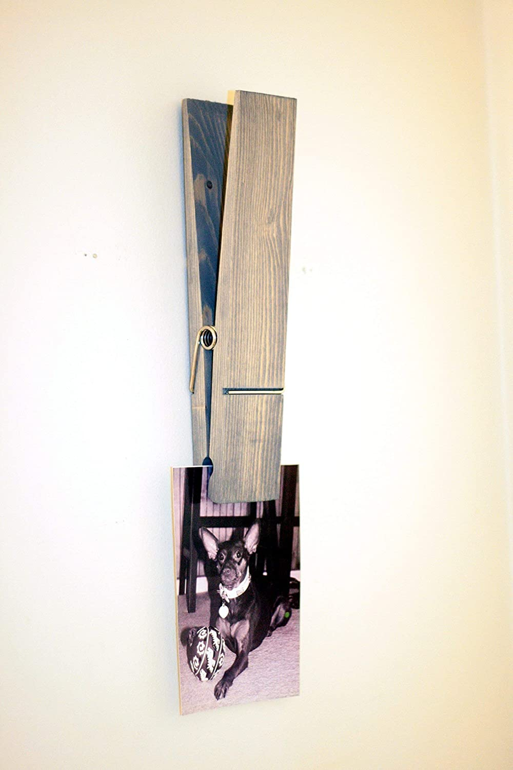 Clothespin Towel Holder Clothespin Picture Display Rustic Jumbo 9 Inch Clothespin Extra Large Clothespin