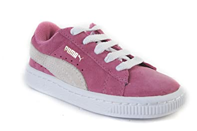 3925ff8ff8e8d5 Puma Suede Hot Pink White 353636-04 For Toddler Girls  Amazon.co.uk ...
