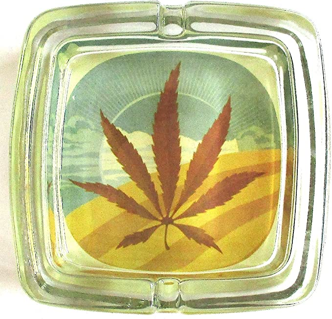 Marijuana Weed Deluxe Glass Ashtray Model 2: Amazon.de: Luggage