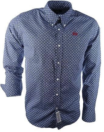 La Martina Man Shirt L/S Printed Poplin, Camisa para Hombre, Azul, X-Large: Amazon.es: Ropa y accesorios