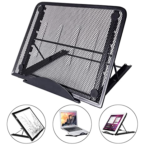Laptop stand - LURICO Soporte Portatil Ordenador Ajustable Plegable Soporte para Portátil/Notebook/Macbook