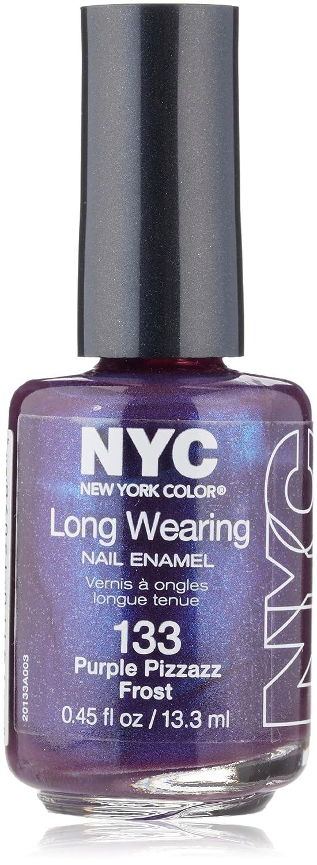 Amazon.com : N.Y.C. New York Color Long Wearing Nail Enamel, Purple ...