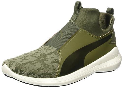 PUMA Rebel Mid Wns Fitness Scarpa Sneaker Donna 363677 Olive Night