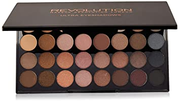 Image Unavailable. Image not available for. Colour: Makeup Revolution Ultra 32 Shade Eyeshadow Palette BEYOND FLAWLESS ...