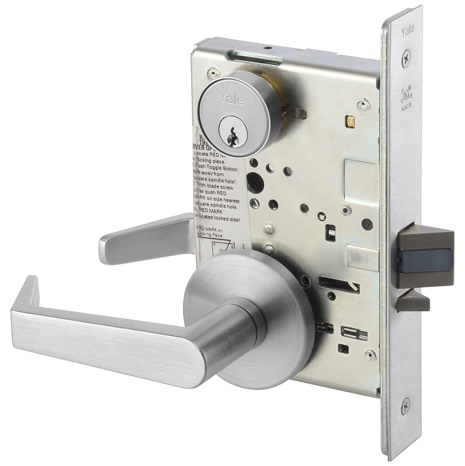 Yale AUCN 8801FL-626 Passage Function Mortise Lock