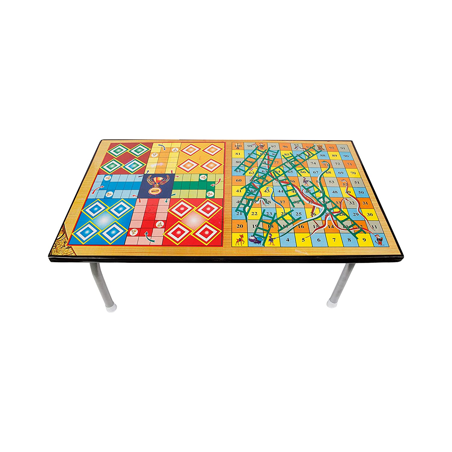 Multipurpose Wooden Foldable 2 in 1 Ludo Gaming Table