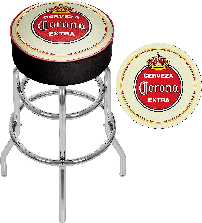 Trademark Gameroom CRN1000-VTG Corona Padded Swivel bar Stool Vintage