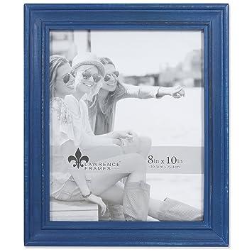 Amazoncom Lawrence Frames 8x10 Durham Weathered Navy Blue Wood