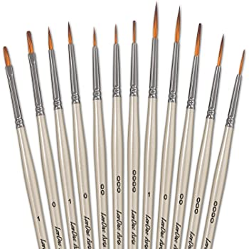 LorDac Arts Detail Paint Brushes Set