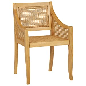 """Stone & Beam Solid Wood Rustic Dining Chair, 33.5""""H, Natural"""