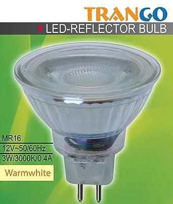 Trango 1er Pack TGMR16 NT3   LED Leuchtmittel GU5.3 MR16 12 Volt 3000K