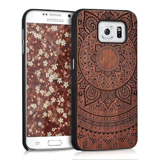 3 opinioni per kwmobile Custodia in legno per Samsung Galaxy S6 / S6 Duos Cover rigida-