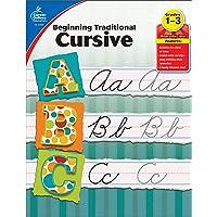 Carson Dellosa | Beginning Traditional Cursive Workbook | 1st–3rd Grade, 32pgs (Learning Spot)