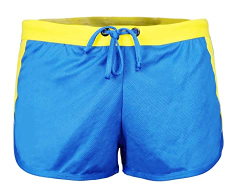 33ae4d4d61b Men's Draw-string Sports Athletic ShortsFitted Shorts Bodybuilding Workout  Gym Running Tight Lifting Shorts Blue
