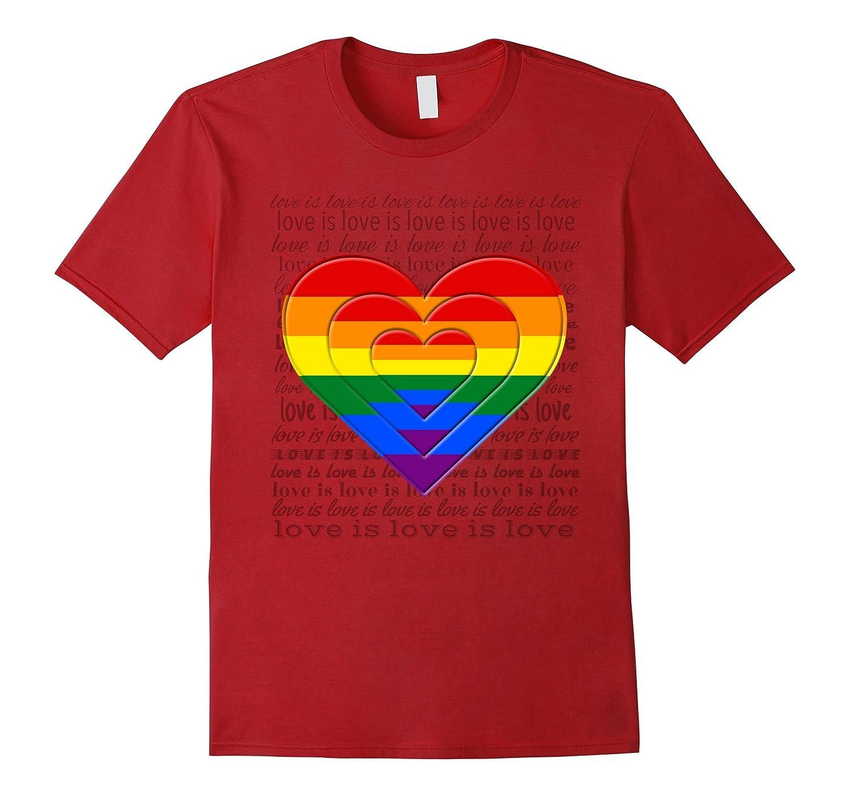 Zees Tees Love is Love LGBTQ Gay Pride Shirt-CD