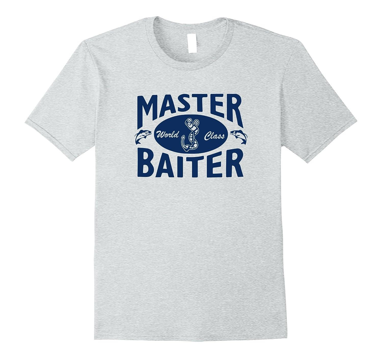 Mens Master Baiter Funny Fishing T-Shirt-ANZ
