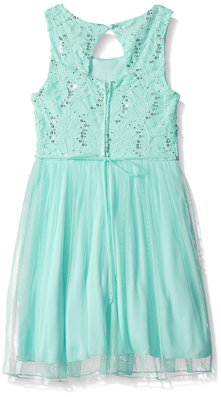 Amazon.com: Speechless Girls\' Lace Sparkle Waist Party Dress: Clothing