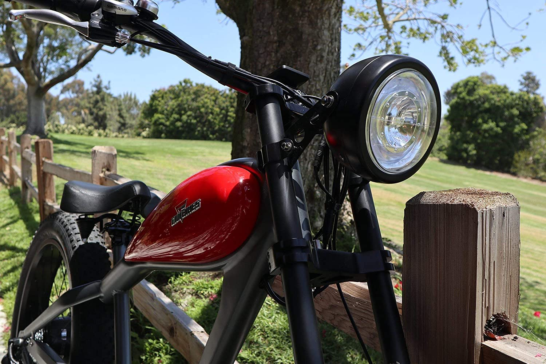 CIVIBIKES 48V 750W Bafang Vintage Electric Bike Fat Tire Cheetah Beach Cruiser Electric Bike