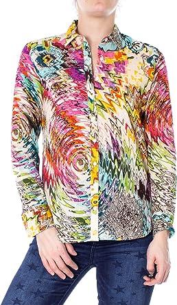 Desigual Camisas de Manga Larga Mujer Medium Multicolor: Amazon.es: Ropa y accesorios