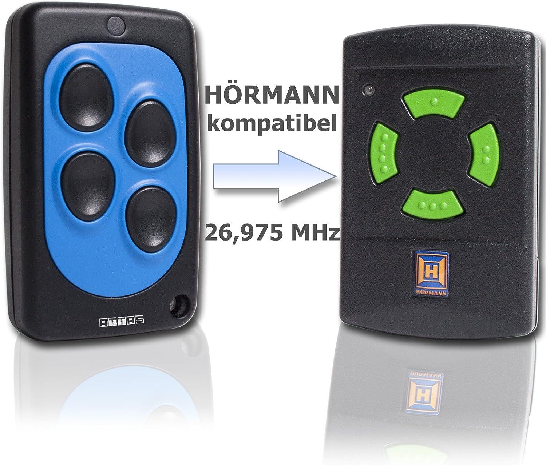 HS 4 Garagentor/öffner Handsender f/ür H/örmann 26,975 MHz HSM 4 Fernbedienung 27 Funk Sender 26.975