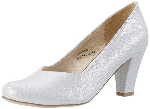 1003464, Zapatos de Tacón con Punta Cerrada para Mujer, Plateado (Silber 096), 39 EU Andrea Conti