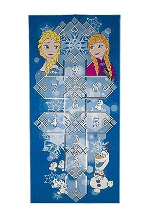Bavaria Home Style Collection Tapis pour Enfant Motif Anna et Elsa/de la/Reine des Neiges/95/x 133/cm