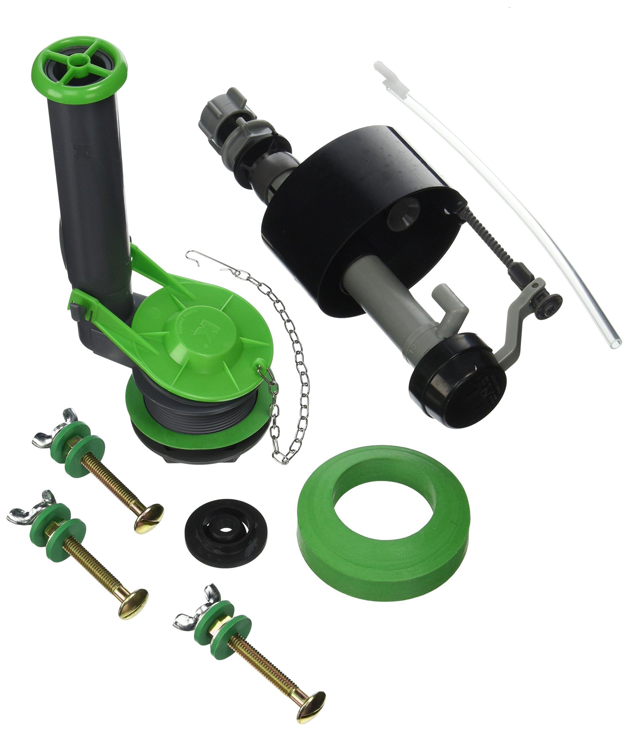 Keeney K830-16BX Floatless Adjustable Toilet Repair Kit, Grey, Green