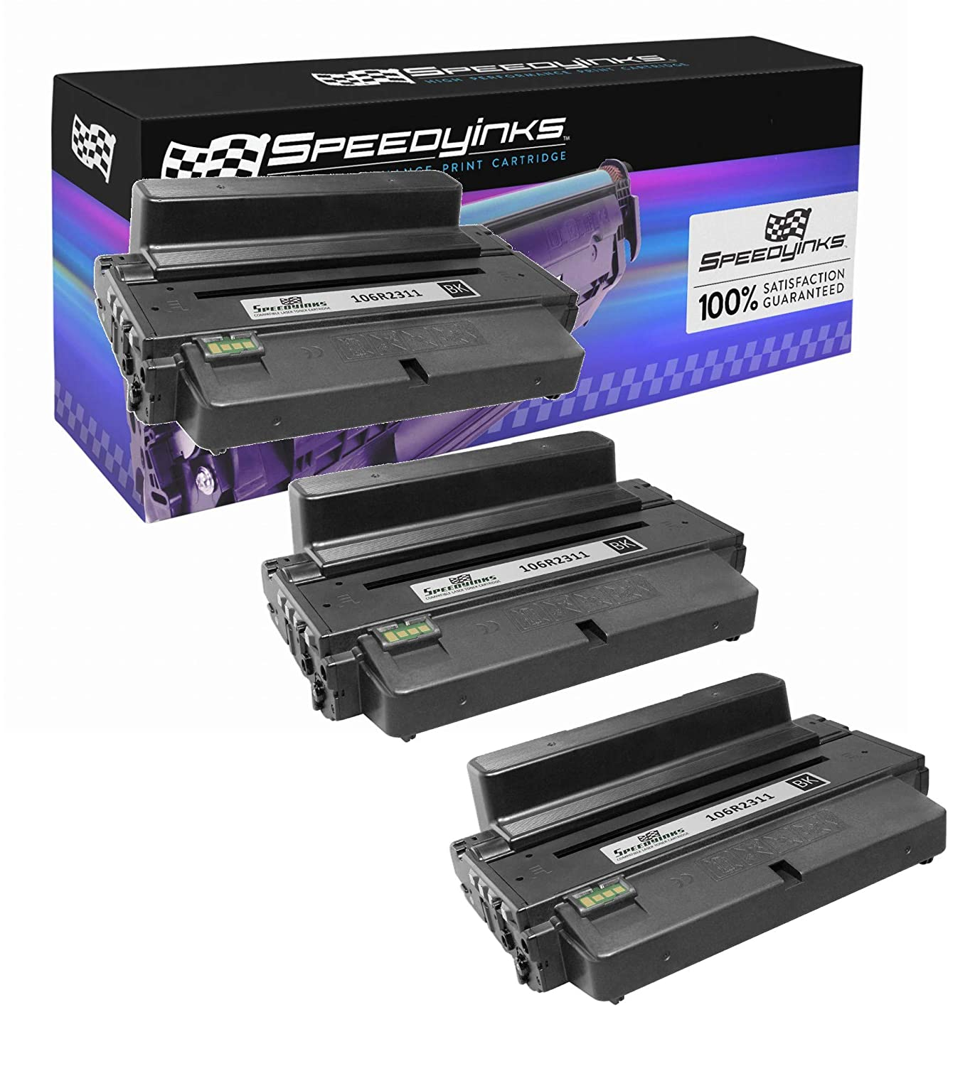 Speedy Inks Compatible Toner Cartridge Replacement for Xerox 3325/3315  106R02311(Black, 3-Pack)