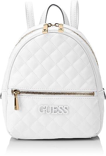 1b64a0c583 Guess Elliana Backpack, Sacs à dos, Femme - Blanc (White) - 22x29x10.5  centimeters (W x H x L): Amazon.fr: Chaussures et Sacs
