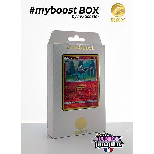 ESAM Coffret #myboost Ossatueur d Alola 12/131 - Soleil et Lune 6 Lumiere Interdite - 10 cartes Pokemon francaises