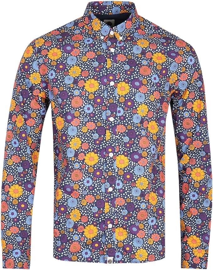 Pretty Green Camisa Slim fit Estampado Floral Morado: Amazon.es: Juguetes y juegos