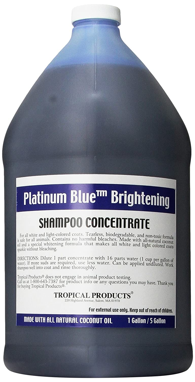 Tropical Platinum bluee Dog Shampoo, 1-Gallon