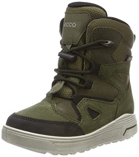1bb243f6446 ECCO Unisex Kids' Urban Snowboarder Snow Boots, Grün (Black/Grape Leaf 59637