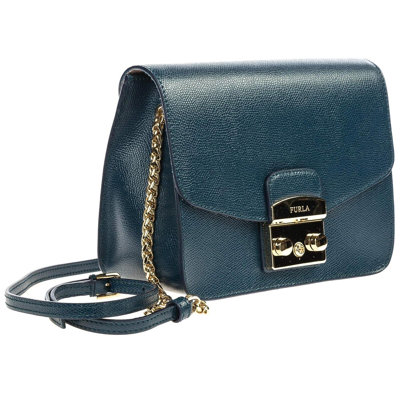 8531ee6ee45cc Furla Metropolis sac bandoulière femme blu antico: Amazon.fr: Chaussures et  Sacs