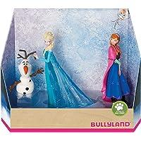 Bullyland 13446 – Juego de Figuras de Walt Disney La Reina del Hielo – Elsa, Anna y Olaf, Figuras pintadas a Mano, sin…