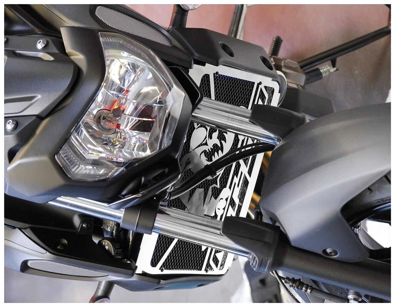 Protezione radiatore//copri radiatore MT-07 2018.Bulldog acciaio inossidabile lucidato grata anti ghiaietto nera