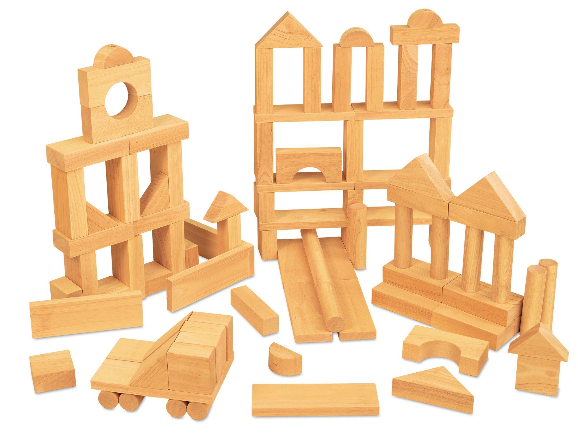 Lakeshore Best-Buy Wooden Blocks - 100-Piece Set