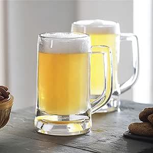 OCEAN Munich Beer Mug, Pack of 6, Clear, 355 ml, P00840