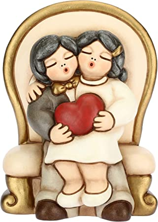 Anniversario Di Matrimonio Emoticon.Thun Coppia Sposini Con Cuore Bomboniere Cerimonia