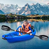 MaxKare Kids Kayak Four Seasons Blue Kayak with Foldable Back Rest, Cup Holders, Front & Rear Storage Hatches, Paddle, 6…