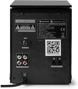 auna MC-200 LED Minicadena estéreo Bluetooth (Mini Equipo música con Altavoces bassreflex, Panel LED, Reproductor CD, Puerto USB, MP3, Mando a Distancia): Amazon.es ...