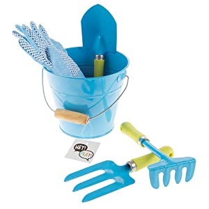 Hey!Play! Gloves, Watering Can and Canvas Tote- Mini Gardening Kit for Boys and Girls