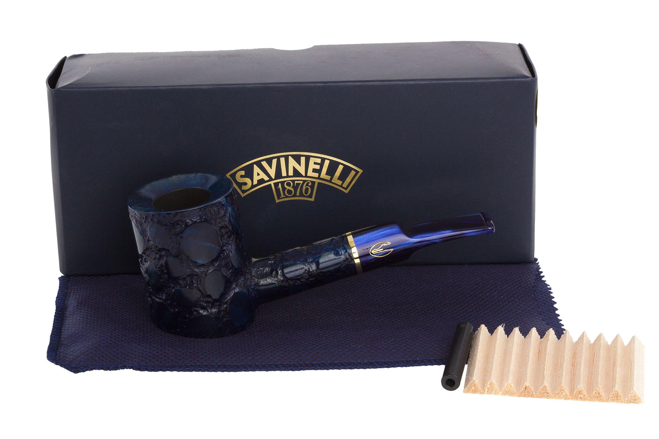 Savinelli Alligator 311 KS Tobacco Pipe - Blue
