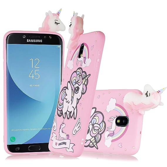 super popular c3e0a 190b3 Amazon.com: Samsung Galaxy J8 2018 Case, 6goodeals Cute 3D Unicorn ...