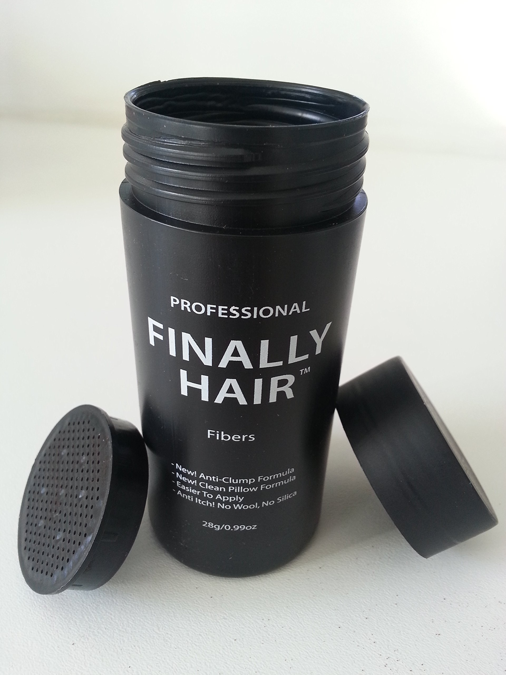 Hair Building Fibers 200 Grams 7 Oz. With Bottle By Finally Hair 50g4 (Light Salt and Pepper (light brown & grey special formula)) by Finally Hair (Image #7)