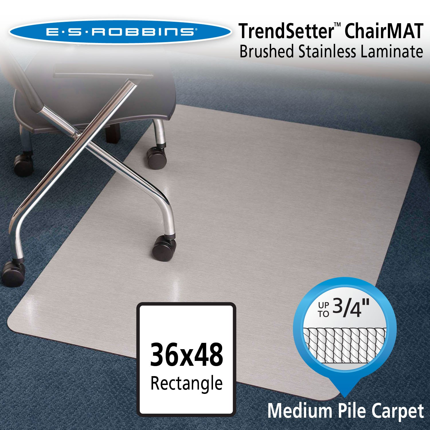 amazon com es robbins trendsetter rectangle brushed stainless
