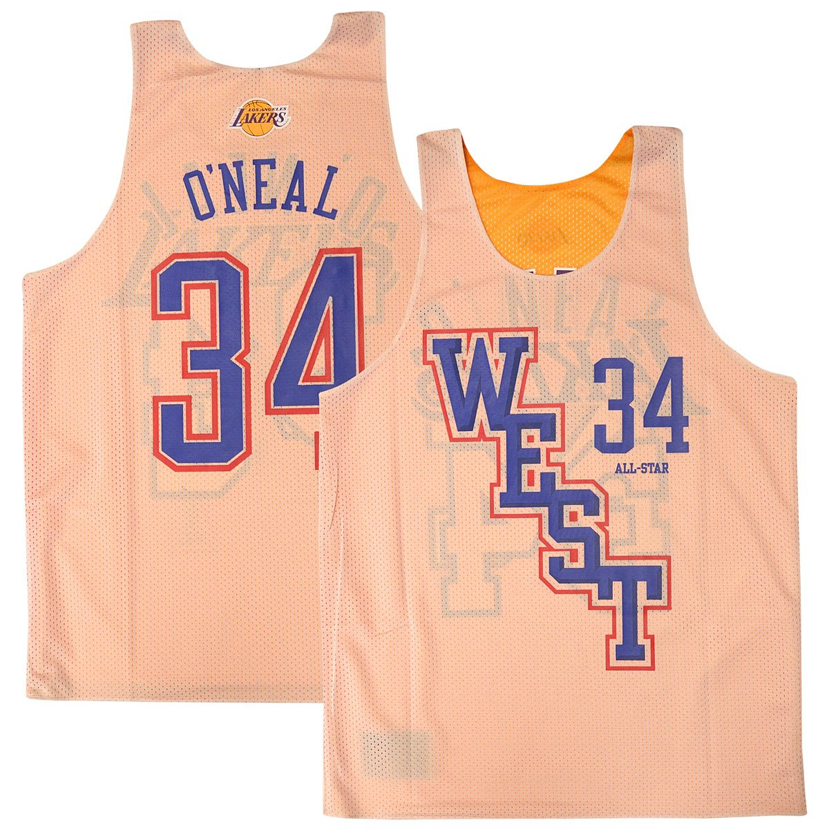 Amazon.com   Mitchell   Ness Shaquille O Neal  34 Los Angeles Lakers 2004  All Star Game Reversible Mesh Tank Top   Sports   Outdoors 65b2eef39