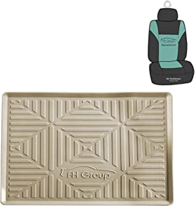 FH Group FH3011 Silicone Anti-Slip Dash Mat Smartphone iPhone, iPhone Plus, Galaxy, Galaxy Note Coin Grip, Beige Color - with Gift